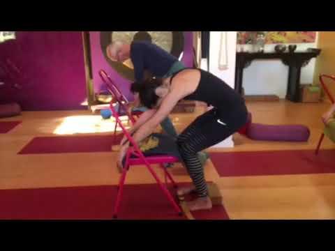 utkatasana catcow with chair spreading toes  youtube
