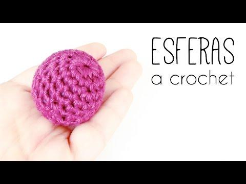 Como tejer una BOLA / ESFERA / PELOTA a crochet   TUTORIAL TODOS LOS TAMAÑOS