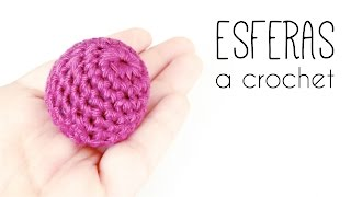 Como tejer una ESFERA a crochet (ganchillo) TODOS LOS TAMAÑOS | How to crochet a SPHERE in ALL SIZES