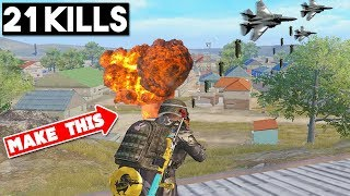 *NEW* AIR STRIKE WEAPON!! | 21 KILLS SOLO vs SQUAD | PUBG Mobile 🐼