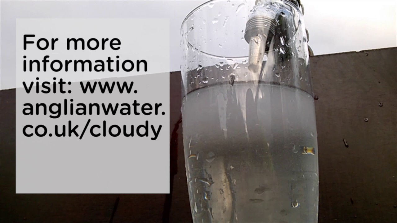 Cloudy water from your taps? - YouTube