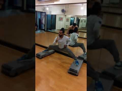 Stretching In Waves Gym Instructor Ram Sirka