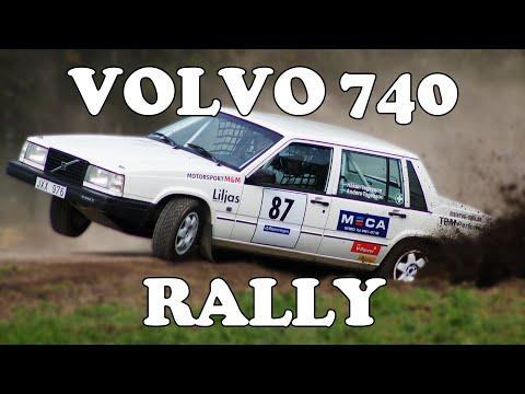 Volvo 740 Rallying! Crashes & Action!