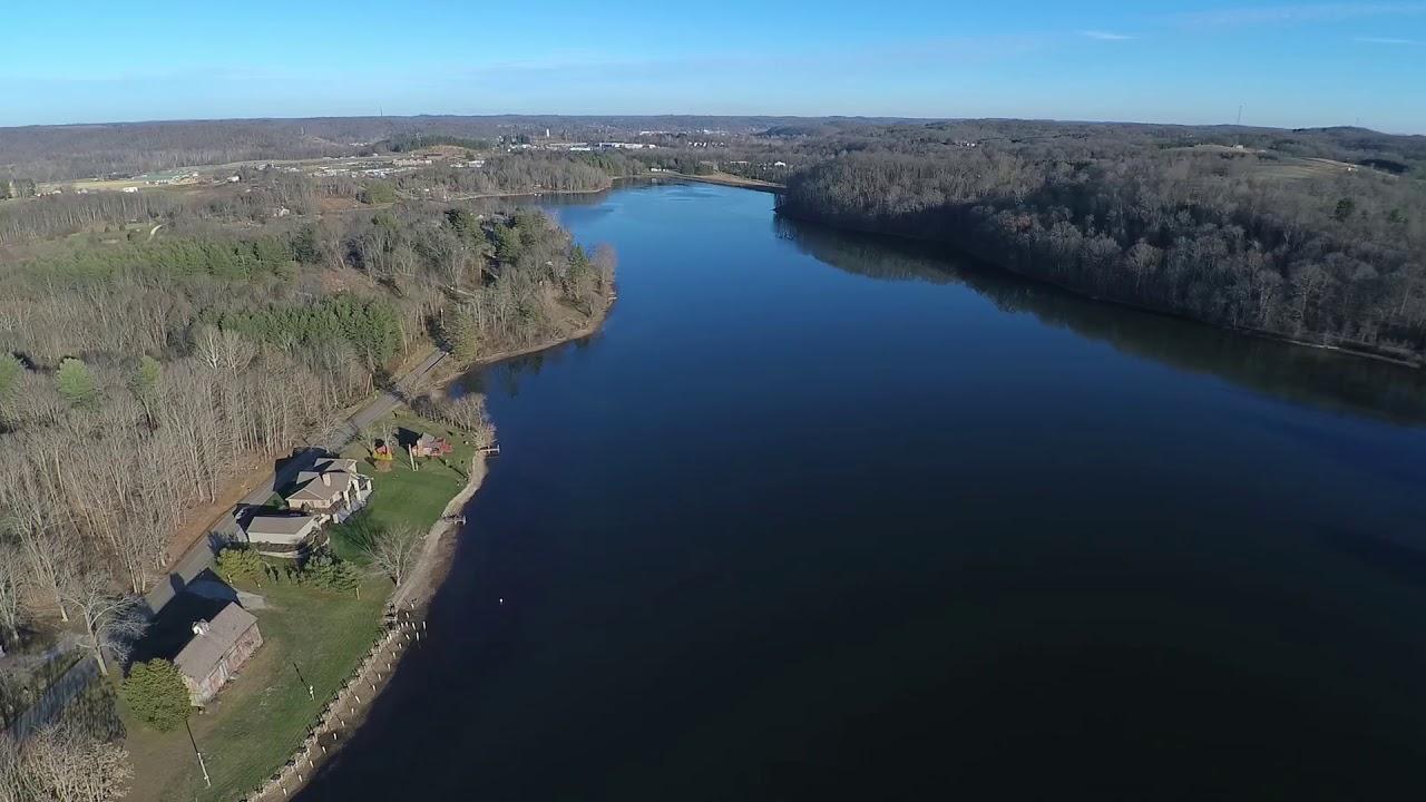 Hocking Hills Lake Logan State Park Drone Footage Youtube