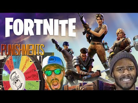 FORTNITE w/ WHEEL OF PUNISHMENTS (If you die, you spin - viewers can make us spin too)