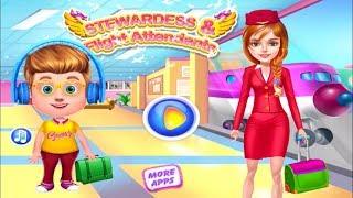 Stewardess & Flight Attendants - Enjoy The Flight Attendant Lifestyle - Free Mobile Games For Kids