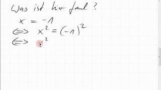 03C.2 Fehler bei Äquivalenzumformungen
