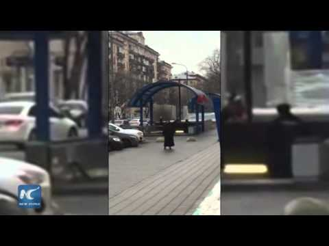 RAW: Nanny waving child's severed head detained in Moscow