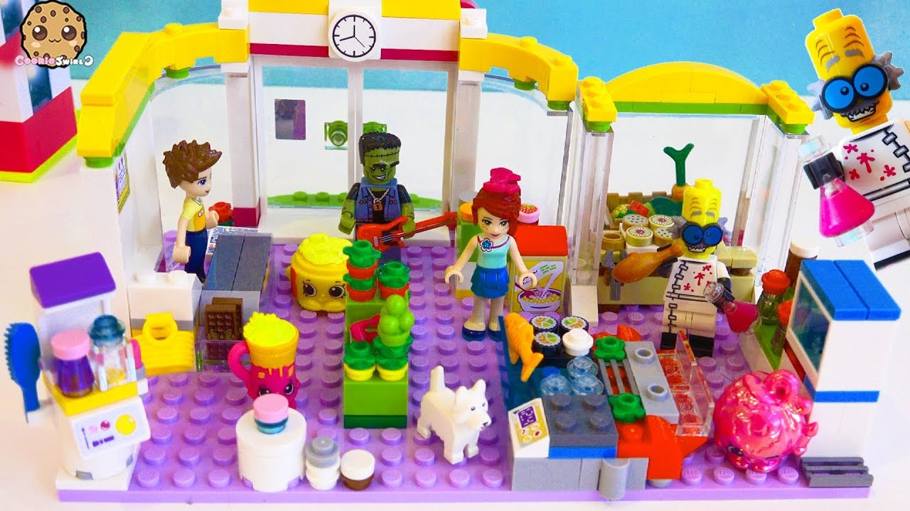 Monsters At The Lego Friends Super Market Store Surprise