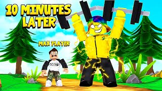 I Joined and met the STRONGEST PLAYER... This is what I had to do next.. (Roblox)