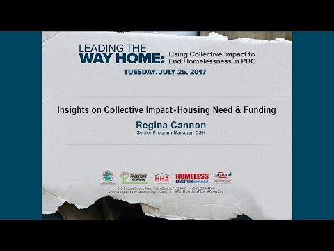 Insights on Collective Impact, Housing Need and Funding