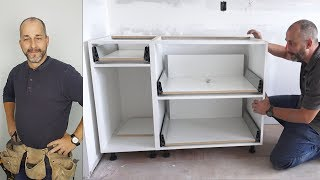 How to Install Base Kitchen Cabinets and save $1000's of dollars