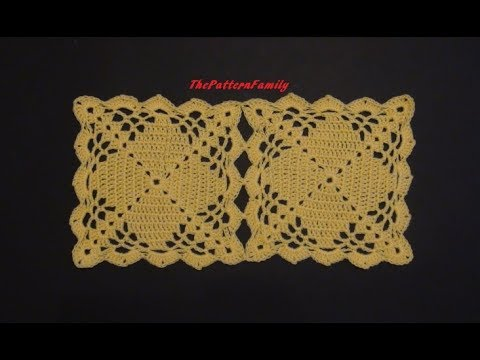 How To Crochet And Join Square Motifs Pattern 433by
