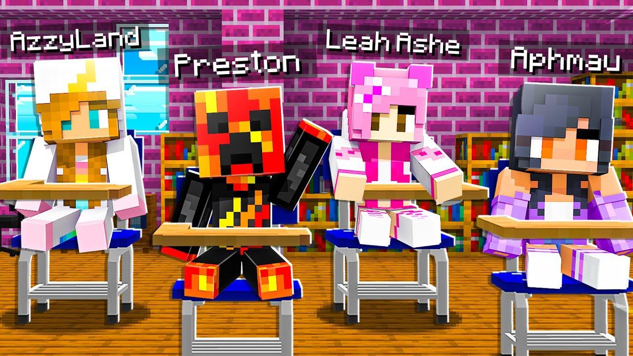 Download I Sent Baby Preston to a GIRLS ONLY School! - Minecraft
