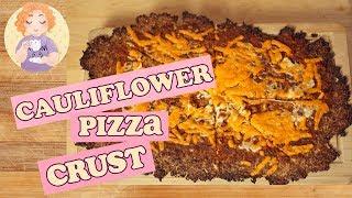 Cauliflower Crust Pizza Recipe Italian Crispy Style that doesn't fall apart -  Low Carb Pizza B