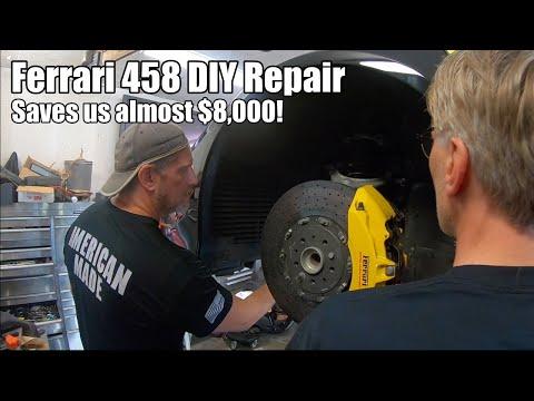 Ferrari 458 DIY Repair Saves Us Almost $8,000!