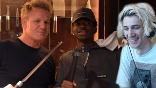 xQc Reacts to Gordon Ramsay Teaches Lil Nas X How To Make A Panini with Chat!