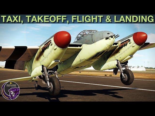 Mosquito FB MkVI: Taxi, Takeoff, Flight & Landing Tutorial   DCS WORLD