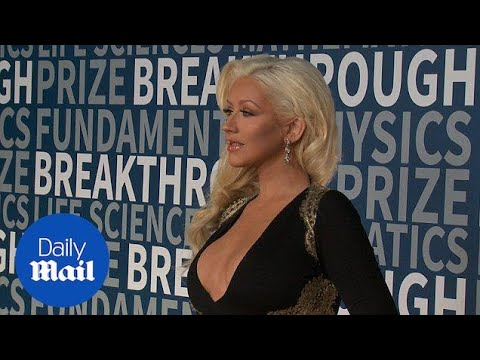 Christina Aguilera In Plunging Gown At Breakthrough Prize - Daily Mail