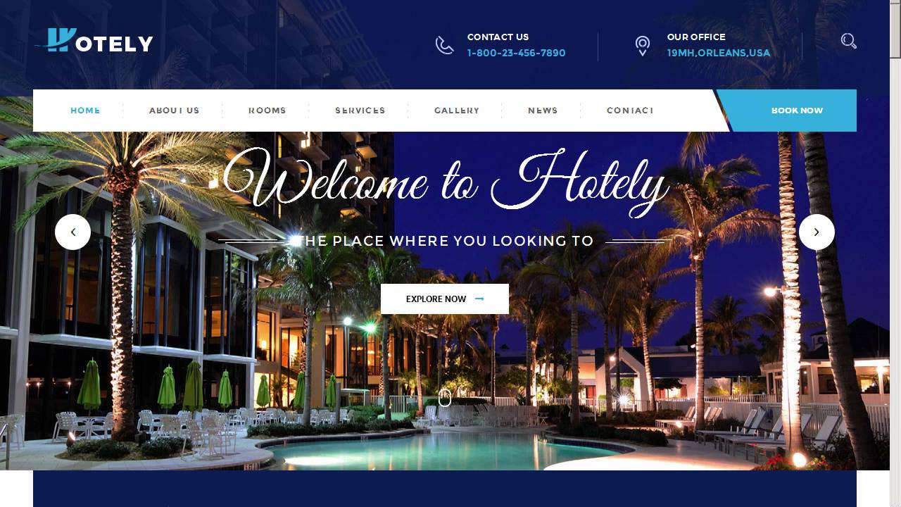 Hotely Hotel Booking Travel Html Template Site Templates