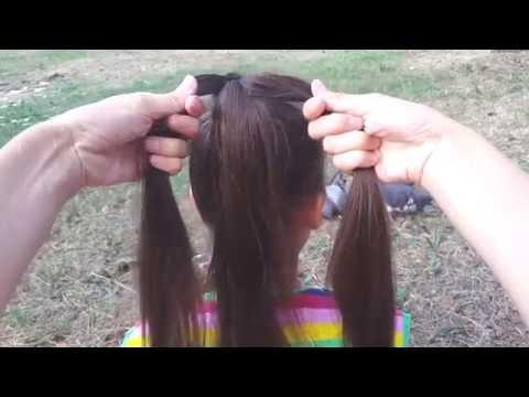 Простая коса. Коса из трех прядей // Simple braid