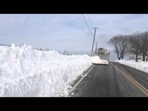 Grader Tackles Snow Drifts In Hunterdon