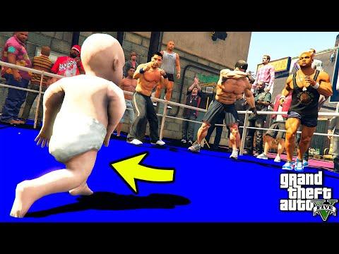 РЕБЕНОК ДЕРЕТСЯ НА БОЯХ БЕЗ ПРАВИЛ UFC В ГТА 5 МОДЫ! ОБЗОР МОДА В GTA 5! ИГРЫ ВИДЕО MODS