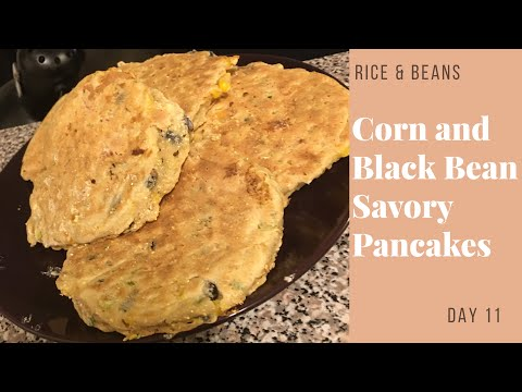 Corn and Black Bean Cakes | 4 Stars | Rice and Beans Challenge