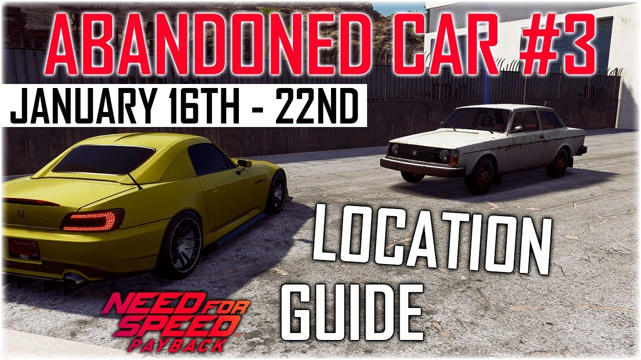 Need For Speed Payback Abandoned Cars 1 Location Guide