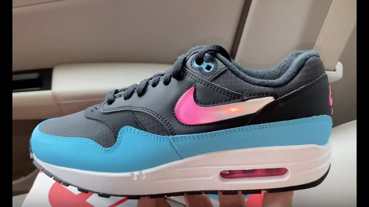 Nike Air Max 1 Jelly Swoosh Blue Fury