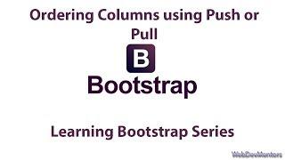 Ordering Columns using Push or Pull