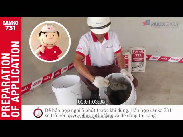 Cách sửa chữa bê tông như mới bằng vữa gia cố Lanko 731