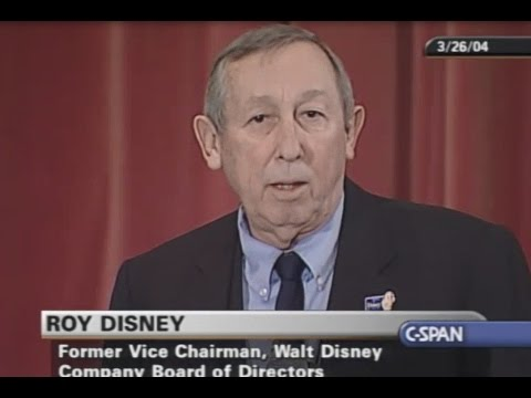 Roy E. Disney speaks at The Council Of Institutional Investors (2004)