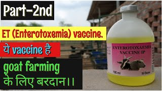 ET(enterotoxemia) Vaccine in goats||goat farming in hindi||bakri paln