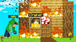 I BURNED Down My FRIENDS HOUSE By ACCIDENT! (Minecraft)