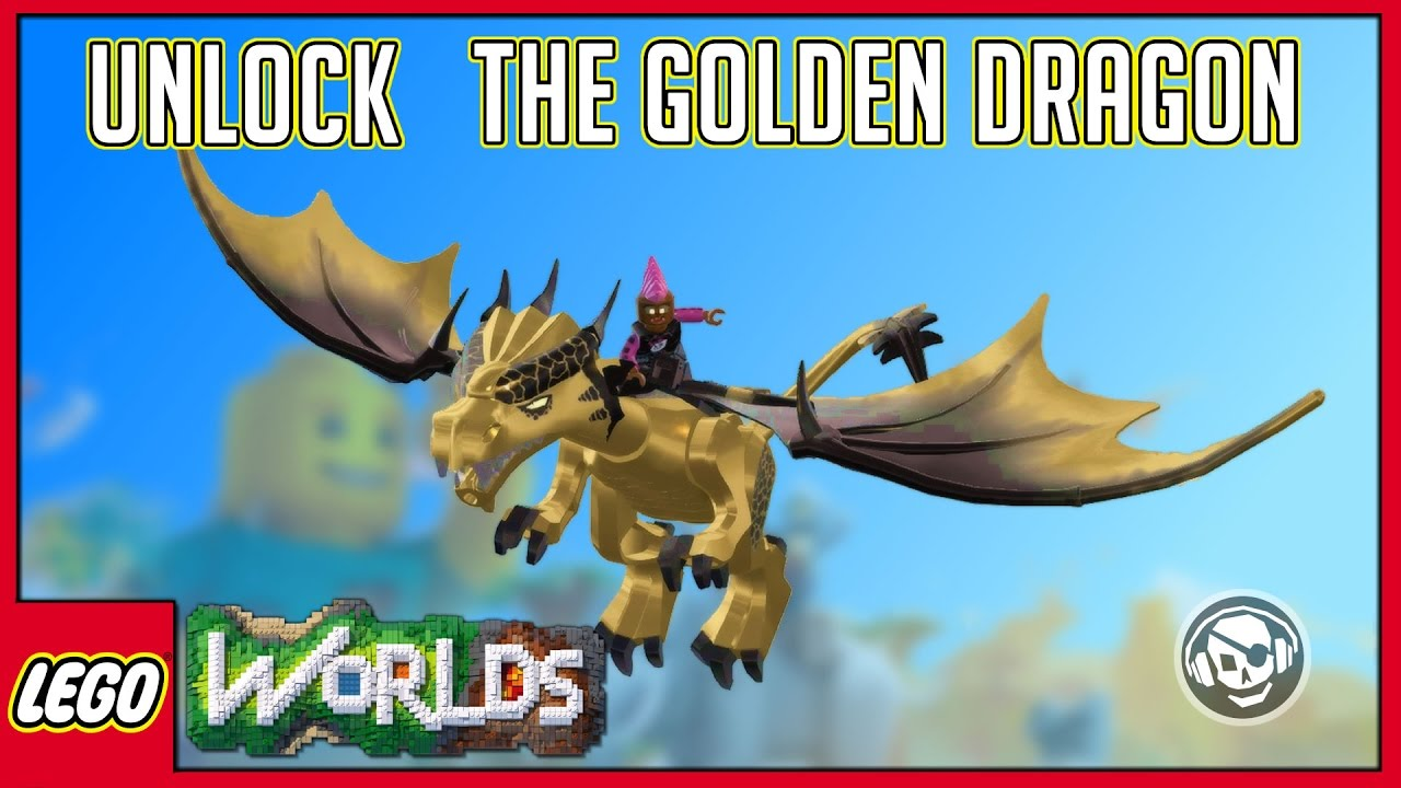 Lego worlds-unlocking the snow Dragon - YouTube