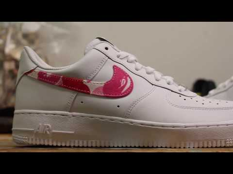 "Custom Sneaker – ""Bape Cloth"" Nike Air Force 1"