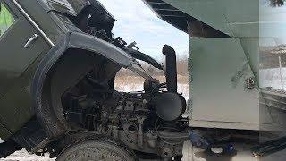 Попал на ремонт  Начались проблемы с рулевой   Работа по дворам на КамАЗе