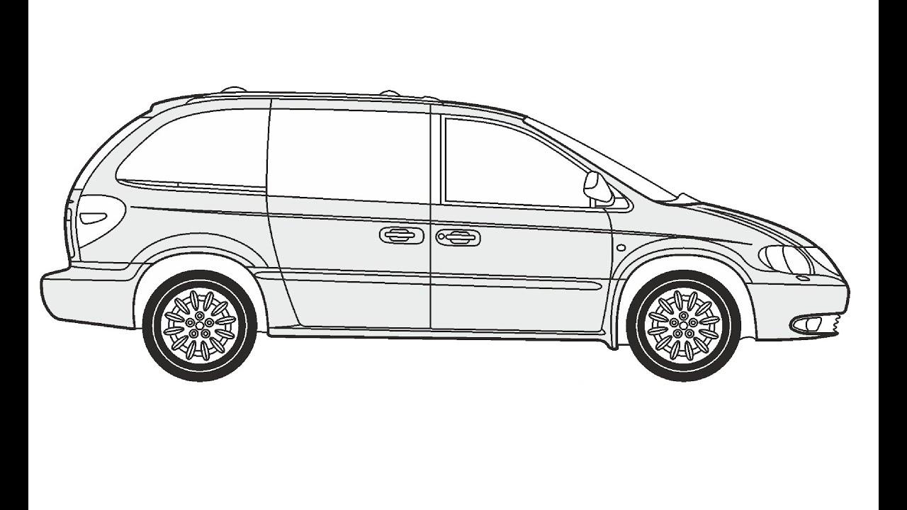 How to Draw a Chrysler Voyager / Как нарисовать Chrysler Voyager ...