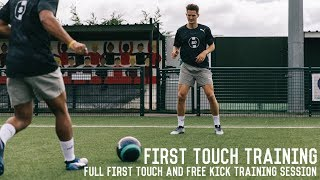 First Touch Drills & Free Kicks | Full Partner Training Session