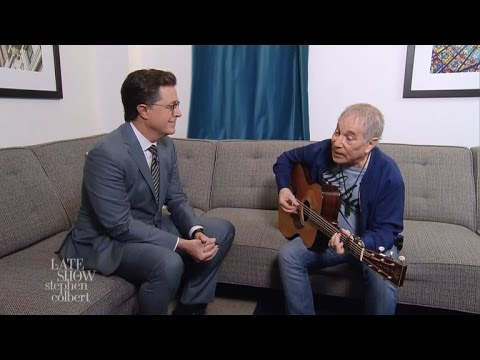 Paul Simon And Stephen Colbert Are Feelin Groovy