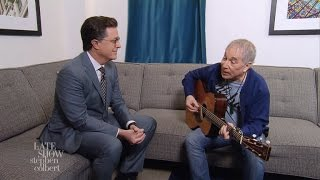 Paul Simon And Stephen Colbert Are 'Feelin' Groovy'