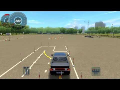 Параллельная парковка задним ходом (автодром) 3D Инструктор
