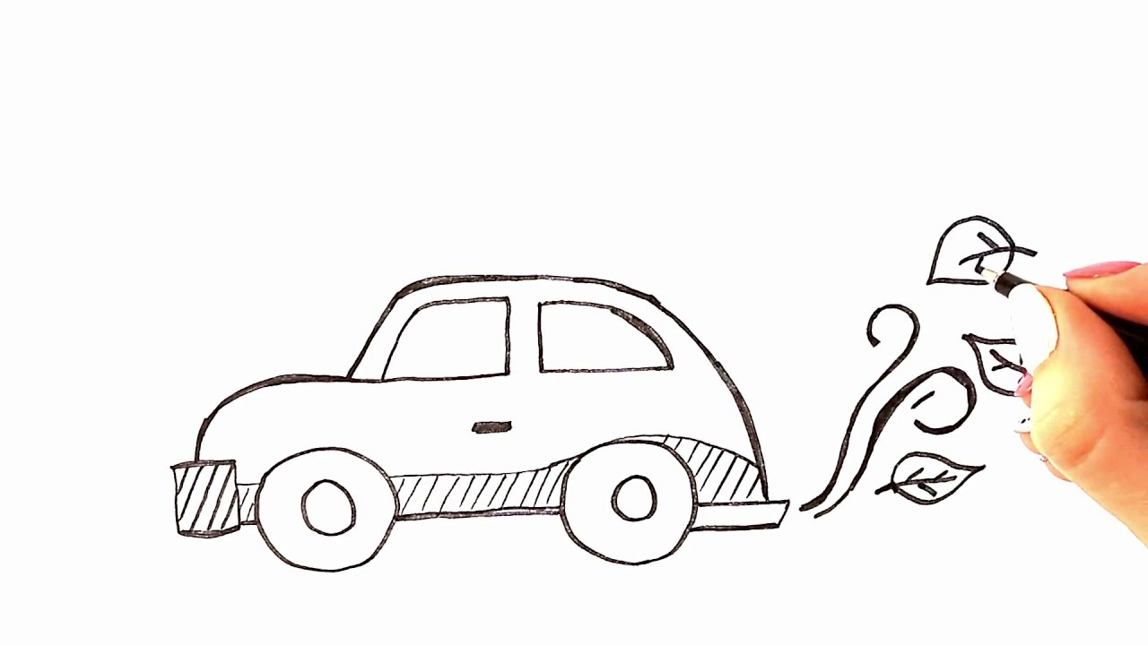 Kucuk Araba Resmi Cocuklar Icin Kolay Otomobil Cizimi Youtube