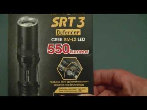 """nitecore-srt3-""""defender""""-led-flashlight.-cree-xm-l2-led."""
