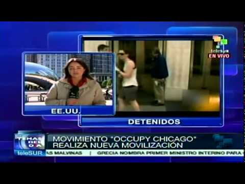 Ocuppy Chicago protesta contra ejecuciones hipotecarias Videos De Viajes