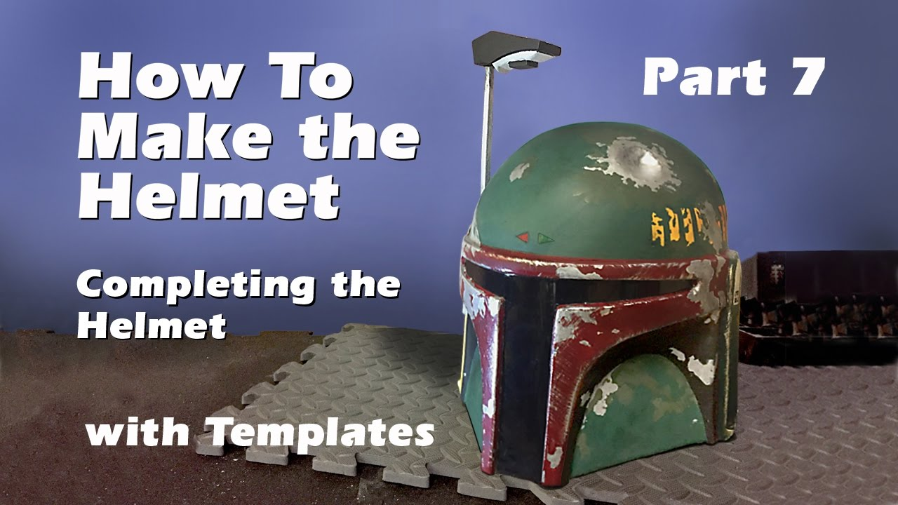 How to make a boba fett helmet step by step guide part 7 youtube how to make a boba fett helmet step by step guide part 7 pronofoot35fo Images
