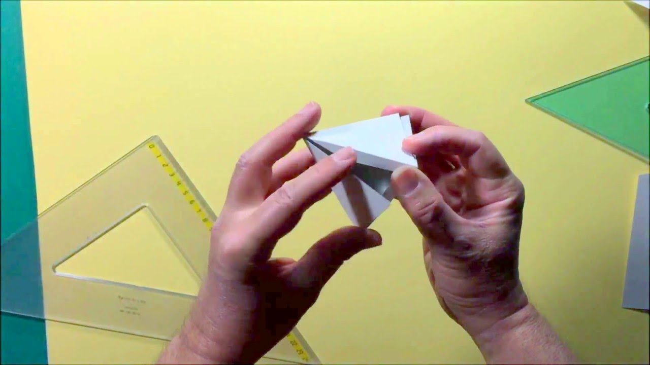 Costruzione della piramide dato il lato e l 39 altezza youtube for Costruzione ottagono dato il lato