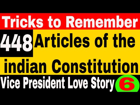 Articles of the  Constitution of india | GK TRICKS to remember ALL 395 articles