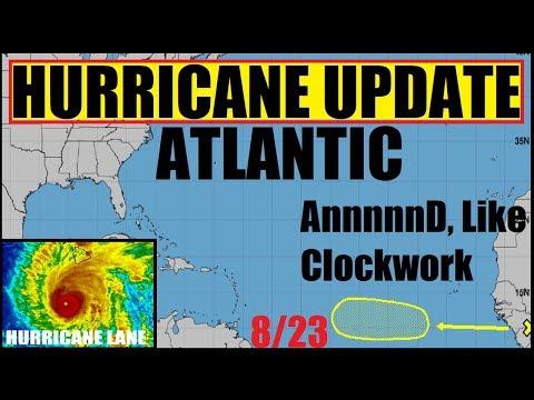 HURRICNE UPDATE! ATLANTIC HURRICANE INVEST Preperation for Hurricane LANE and HAWAII